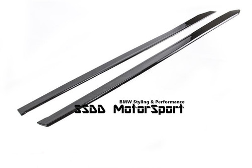 Carbon fibre side skirt extensions for BMW F32 F33 4 series