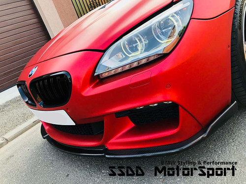 BMW F12 F13 F06 MSport Carbon Front Splitter