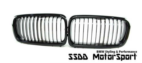 BMW E38 7 Series High Gloss Black Kidney Grilles ABS Plastic