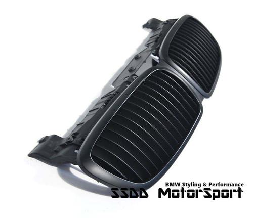 BMW e65 E66 7 Series Matt Black Kidney Grilles