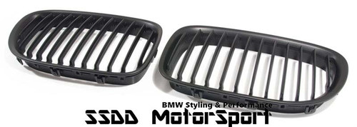 BMW F01 F02 7 Series black kidney grilles