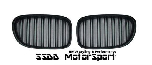 BMW F01 F02 7 Series double slats black kidney grilles
