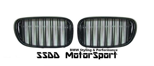 BMW G11 7 series m look double slats gloss black performance kidney grilles