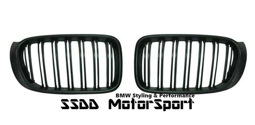 BMW F25 F26 X3 M look double slats black kidney grilles