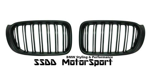 BMW F26 X4 M look double slats black kidney grilles