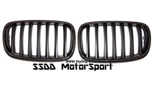 BMW e70 X5 E71 X6 carbon fibre kidney grilles