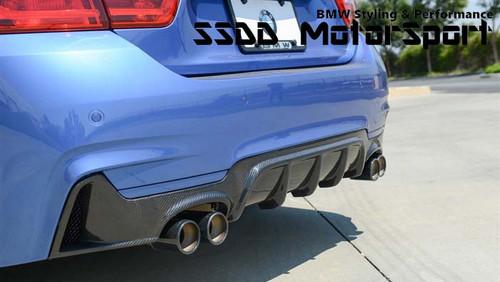 BMW F32 F33 F36 Msport Carbon Fibre Quad Diffuser