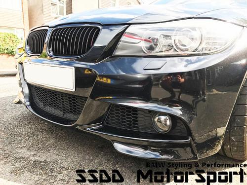 E90 E91 LCI Msport performance gloss black splitters