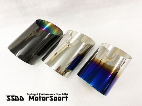 "BMW N55 B58 M135i M140i M240i 335i 440i 3.5"" Slip-On Exhaust Tips"