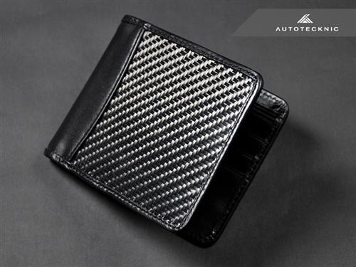 Men's real carbon fibre leather wallet