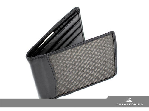 Men's real carbon fibre leather wallet