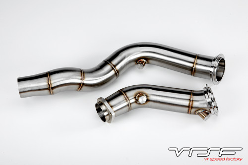 """VRSF BMW S55 3"""" Catless Downpipes for F87 M2 Competition, F80 M3 & F82 F83 M4"""