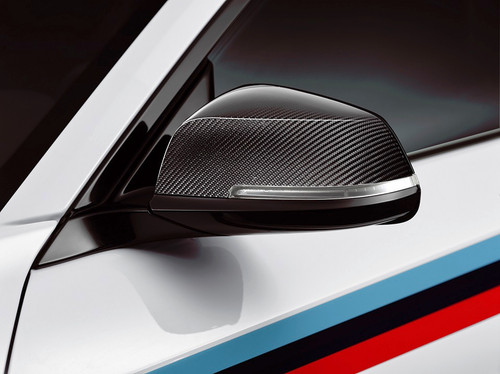 Genuine BMW F87 M2 MPerformance Carbon Fibre Mirror Caps | 51162211904 & 51162211905