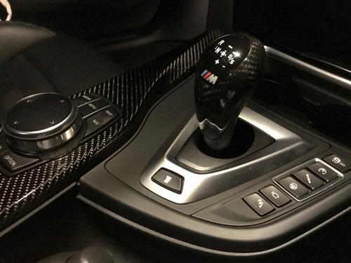 Genuine Dry Carbon Fibre BMW M DCT Gear Knob Cover for F80 M3, F82 & F83 M4