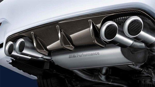 Genuine BMW M Performance Carbon Rear Diffuser for F80 M3, F82, F83 M4 | 51192350697