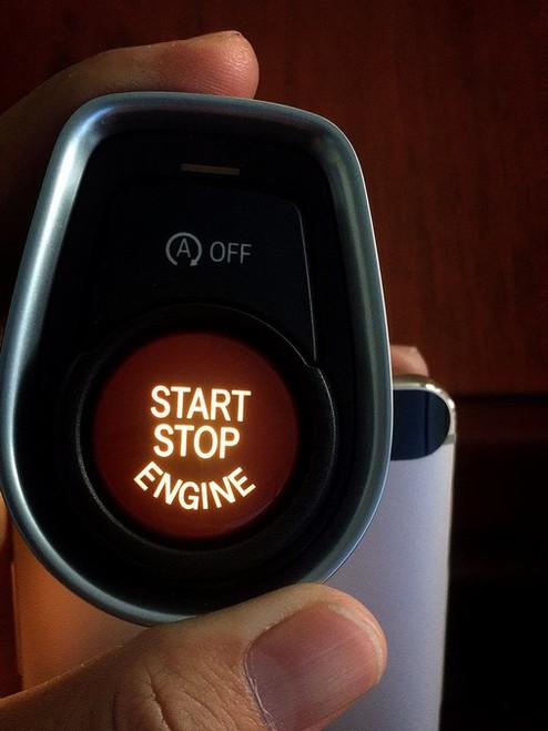 BMW Red Engine Start Stop Button