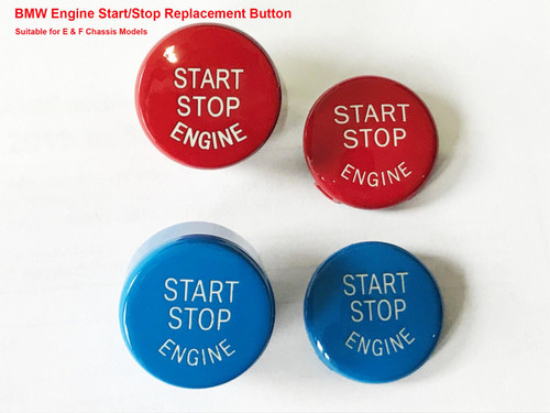 bmw blue or red replacement engine start stop button for e81 e82 e88 e90 e92 e60 f20 f21 f22 f23 f30 f31 f32 f33 f36 f10 f12 f13 series