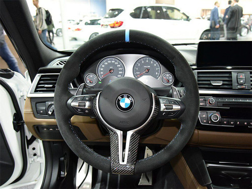 RENNESSIS Carbon Fibre Steering Wheel Trim for BMW F87 M2, F80 M3, F82 M4, F10 M5 LCI & F12 M6, X5M X6M