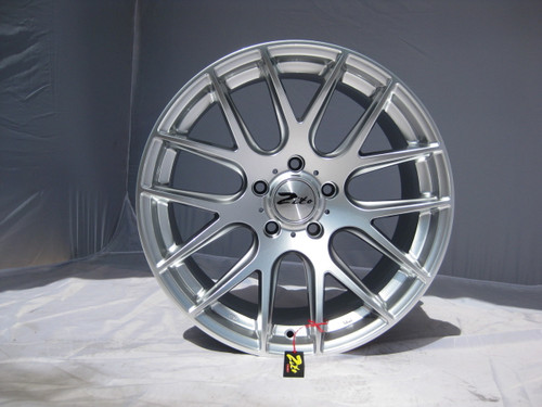 "19"" ZITO 935 CSL GTS STYLE ALLOYS IN HYPER SILVER WITH DEEPER CONCAVE 9.5"" REARS"