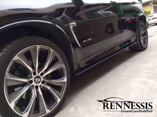ENNESSIS GT-S Carbon Fibre Side Skirt Extensions for BMW F85 X5M