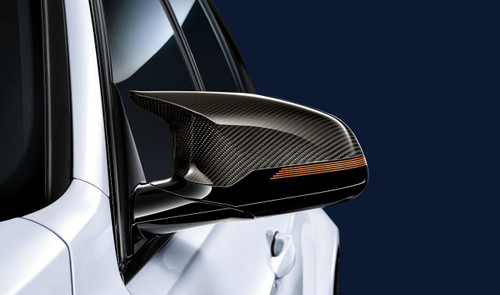 Genuine BMW M Performance Carbon Fibre Mirror Covers for F80 M3, F82 & F83 M4 - 51142348100 51142348101