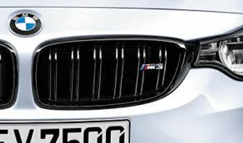 Genuine BMW M Performance Gloss Black Kidney Grilles for F80 M3 - 51712352813 51712352812