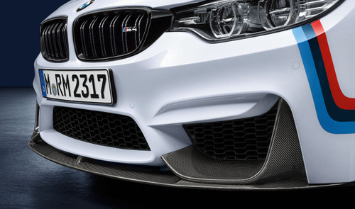 Genuine BMW M Performance Front Lower Splitter Carbon for F80 M3, F82 F83 M4 - 51192410360