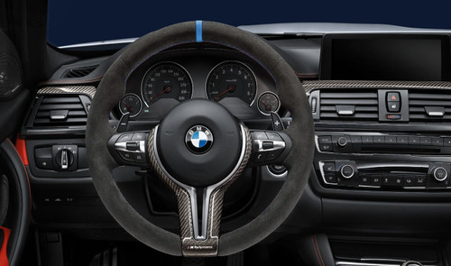 BMW FX M3/M4 M Performance Alcantara Steering Wheel Without Race Display - 32302344147