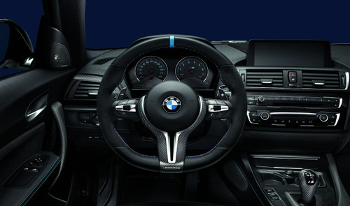 Genuine BMW M Performance Flat Bottom Steering Wheel for F80 M3 F82 F83 M4 - 32302413014 32302345203