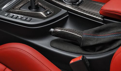 Genuine BMW M Performance Alcantara & Carbon Handbrake Sleeve & Gaitor For M3 & M4 - 34402358364