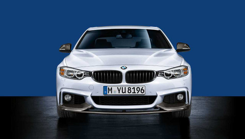 Genuine BMW M Performance Front Splitter for F32 F33 F36 4 Series Msport - Carbon Fibre 51192408993