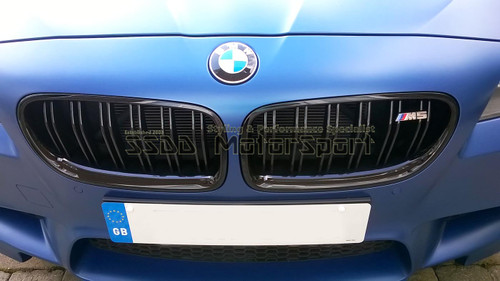 BMW F10 M5 Gloss Black Kidney Grilles FREE M5 Badges