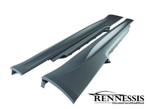 RENNESSIS BMW M3 Style Side Skirts for E90 E91 E92 E93 3 Series - ABS Plastic