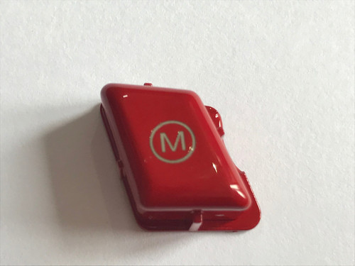 RENNESSIS Red M Steering Wheel Button for BMW E90 E92 E93 M3