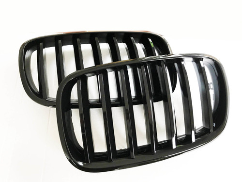 RENNESSIS Gloss or Matt Black Kidney Grilles for BMW E70 X5 E71 X6