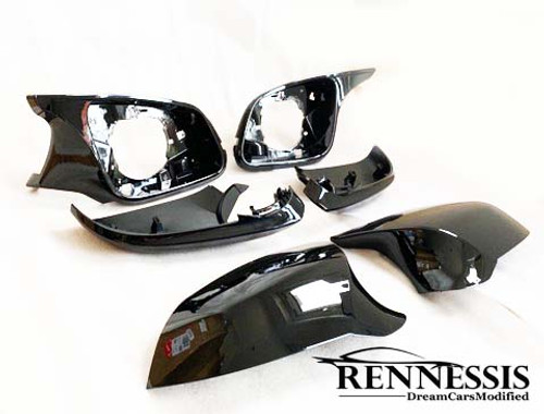 RENNESSIS Painted M Inspired Mirror Replacement Units for Various FX Series Models