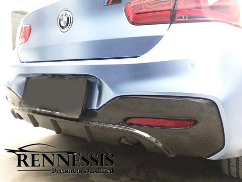 RENNESSIS GT-S Carbon Fibre Diffuser for BMW F20 F21 LCI M135i M140i