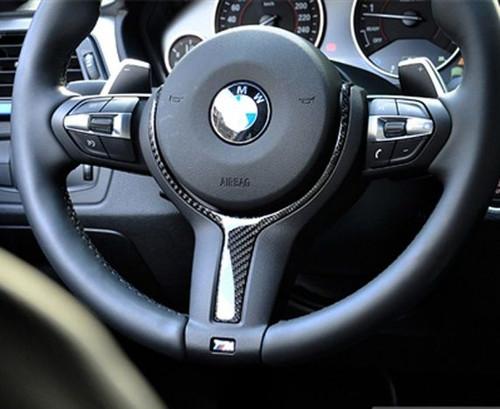 Carbon Fibre Steering Wheel Trim for BMW FX 1 2 3 4 5 6 X M SPORT Models