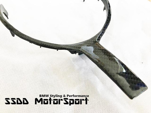 Carbon Fibre Steering Wheel Trim for BMW FX 1 2 3 4 5 6 X M SPORT Models