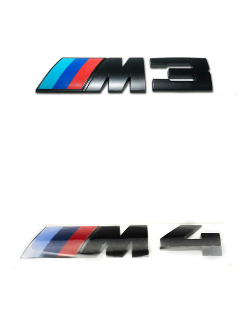 Genuine BMW Black M3 M4 Competition Pack Rear Badges - 51148068579 and 51148068580