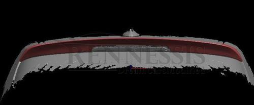 RENNESSIS Gloss Black BMW F20 F21 Rear Roof Spoiler V2 High Line