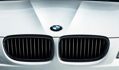 Genuine BMW Gloss Black Performance Kidney Grille For E92 E93 LCI 10-13 (Non M3) - 51712158984 51712158985