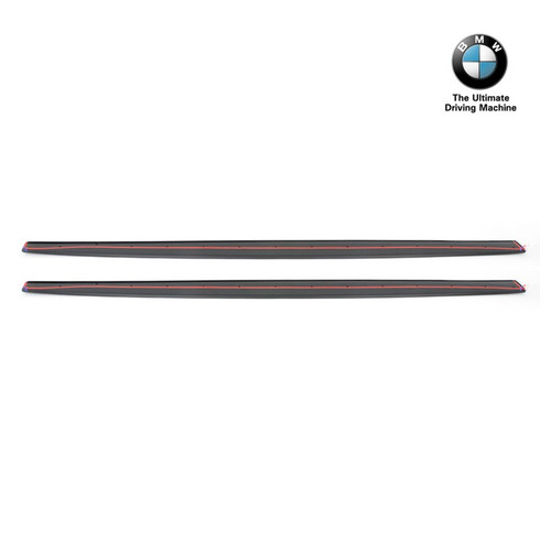 Genuine BMW F82 F83 M4 M Performance Side Skirt Extension Blades | Matt Black 51192350719 51192350720
