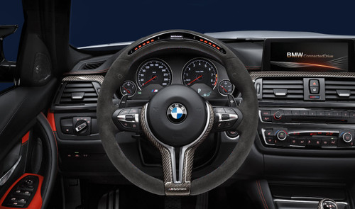 BMW F87 M2 & M2 Competition M Performance Alcantara Steering Wheel With Race Display - 32302413015