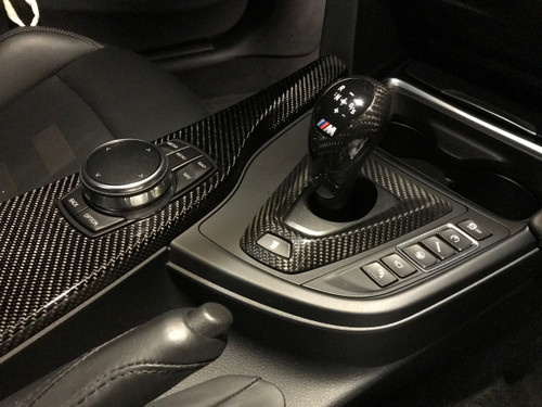 RENNESSIS Genuine Dry Carbon Fibre BMW M DCT Gear Surround Trim for F80 M3, F82 & F83 M4