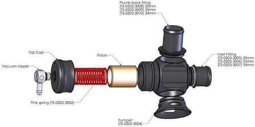Turbosmart BMW N54 Plumb Back Recirculating BOV for 135i, 335i, 535i, & E89 Z4 (TS-0203-1250)