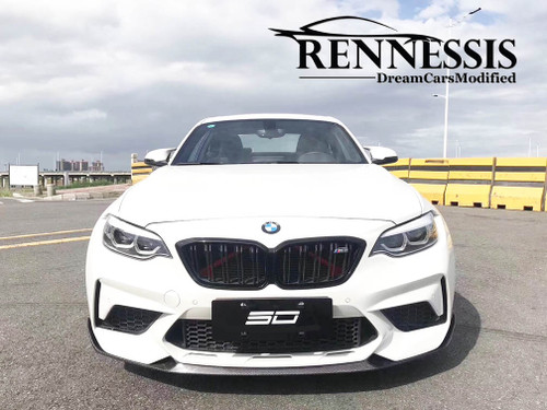 RENNESSIS EVO Dry Carbon Fibre Front Splitter for BMW F87 M2 Competition