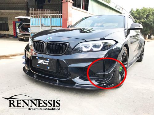 RENNESSIS DTM Look Carbon Fibre Bumper Canards BMW F87 M2 & M2 Competition