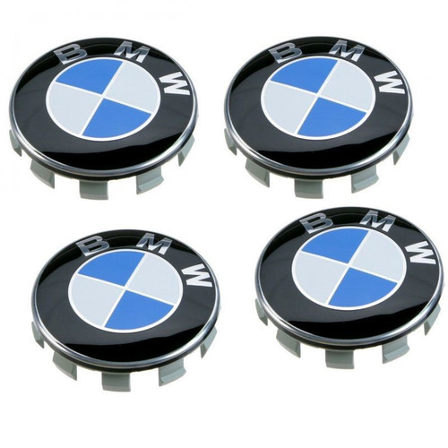 Genuine BMW Alloy Wheel Centre Caps x 4 - 68MM 36136783536