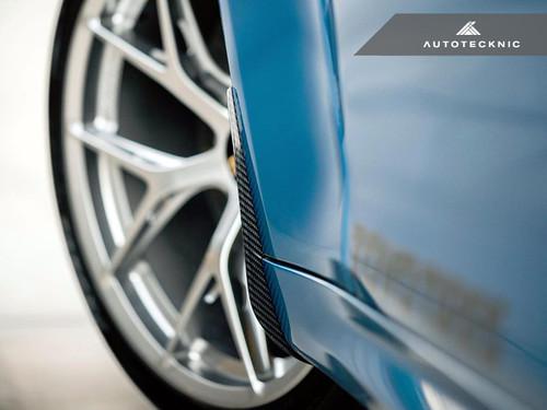 Autotecknic Carbon Fibre Front Splash Guards for BMW F87 M2, M2 Competition, & F22/F23 2 Series